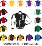 letterman jacket illustration | Shutterstock .eps vector #1185063832