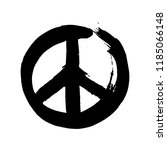Handdrawn Sign Pacifist  Peace...