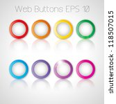 set of  web color round buttons.... | Shutterstock .eps vector #118507015
