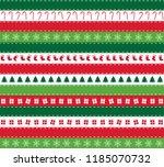 christmas seamless patterns.... | Shutterstock .eps vector #1185070732