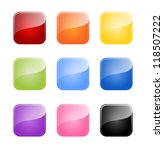 set of colored glossy blank... | Shutterstock .eps vector #118507222