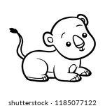 coloring book for children ... | Shutterstock .eps vector #1185077122