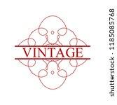 flourishes calligraphic art... | Shutterstock .eps vector #1185085768