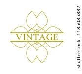 flourishes calligraphic art... | Shutterstock .eps vector #1185085882