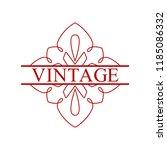 flourishes calligraphic art... | Shutterstock .eps vector #1185086332