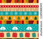 merry christmas winter seamless ... | Shutterstock . vector #1185088345