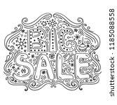 big sale   hand drawn lettering. | Shutterstock . vector #1185088558