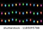 christmas lights isolated on... | Shutterstock .eps vector #1185095788