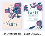 floral party invitation card... | Shutterstock .eps vector #1185096322