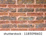 old red brick wall texture and... | Shutterstock . vector #1185098602