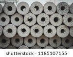 round spun micropile on... | Shutterstock . vector #1185107155