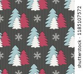 seamless christmas vector... | Shutterstock .eps vector #1185107572