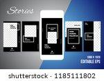 editable social media stories... | Shutterstock .eps vector #1185111802