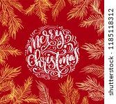 merry christmas vector text... | Shutterstock .eps vector #1185118312