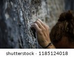 close up image of a rock... | Shutterstock . vector #1185124018