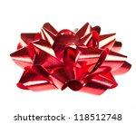 christmas bow | Shutterstock . vector #118512748