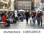 rome  italy   17 november 2012. ... | Shutterstock . vector #1185128515
