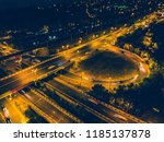 aerial view to road junction... | Shutterstock . vector #1185137878