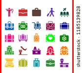 luggage icon set. briefcase... | Shutterstock .eps vector #1185139828