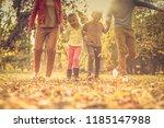 ok  who running faster  family... | Shutterstock . vector #1185147988
