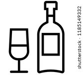icon shows wine bottle and... | Shutterstock .eps vector #1185149332