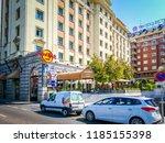madrid  spain  08 19 2017  a... | Shutterstock . vector #1185155398