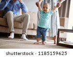 happy family  smiling baby boy... | Shutterstock . vector #1185159625