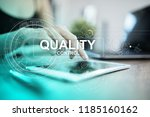 quality assurance. control and... | Shutterstock . vector #1185160162