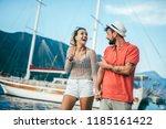 couple in love  enjoying the...   Shutterstock . vector #1185161422