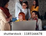 business working together  ...   Shutterstock . vector #1185166678