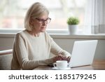 serious mature middle aged... | Shutterstock . vector #1185179245