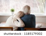 rear view at senior grey haired ... | Shutterstock . vector #1185179302