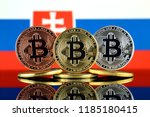 physical version of bitcoin ... | Shutterstock . vector #1185180415