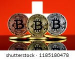physical version of bitcoin ... | Shutterstock . vector #1185180478