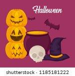 halloween celebration design | Shutterstock .eps vector #1185181222