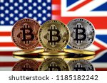 physical version of bitcoin ... | Shutterstock . vector #1185182242