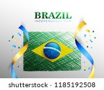brazil flag for brazil... | Shutterstock .eps vector #1185192508