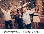 elegant nice attractive... | Shutterstock . vector #1185197788