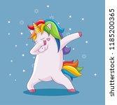 cute animal doing dabbing | Shutterstock .eps vector #1185200365