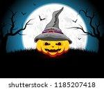 halloween background... | Shutterstock . vector #1185207418