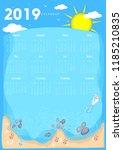 2019 Calendar Beach Concept