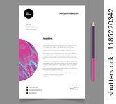 elegant letterhead template... | Shutterstock .eps vector #1185220342