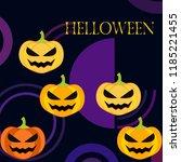 halloween pumpkin vector... | Shutterstock .eps vector #1185221455