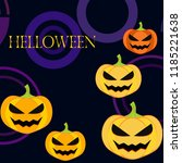 halloween pumpkin vector... | Shutterstock .eps vector #1185221638