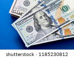 american dollars. a stack of... | Shutterstock . vector #1185230812