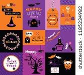 orange  pink and purple happy... | Shutterstock .eps vector #1185234982