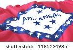 3d render  realistic wavy flag... | Shutterstock . vector #1185234985