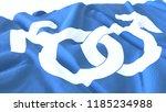 3d render  realistic wavy flag... | Shutterstock . vector #1185234988