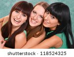 three nice girls in green... | Shutterstock . vector #118524325