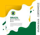 brazil national day vector... | Shutterstock .eps vector #1185244312
